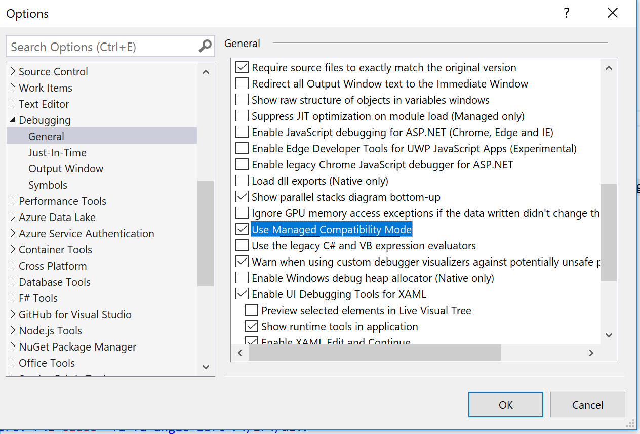VS2017 Debugger Timeout